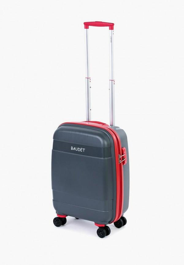 мужской чемодан baudet, серый
