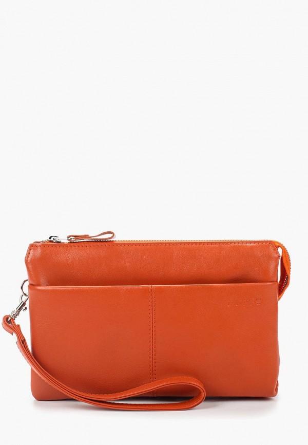 женский клатч duffy, оранжевый