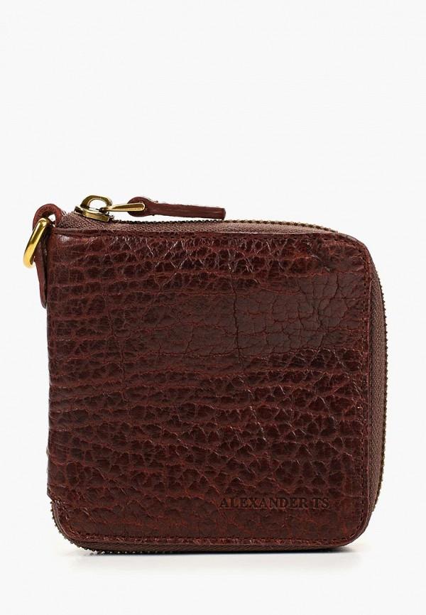 женский кошелёк alexander tsiselsky, коричневый