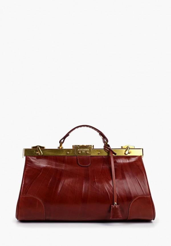 женская дорожные сумка alexander tsiselsky, коричневая