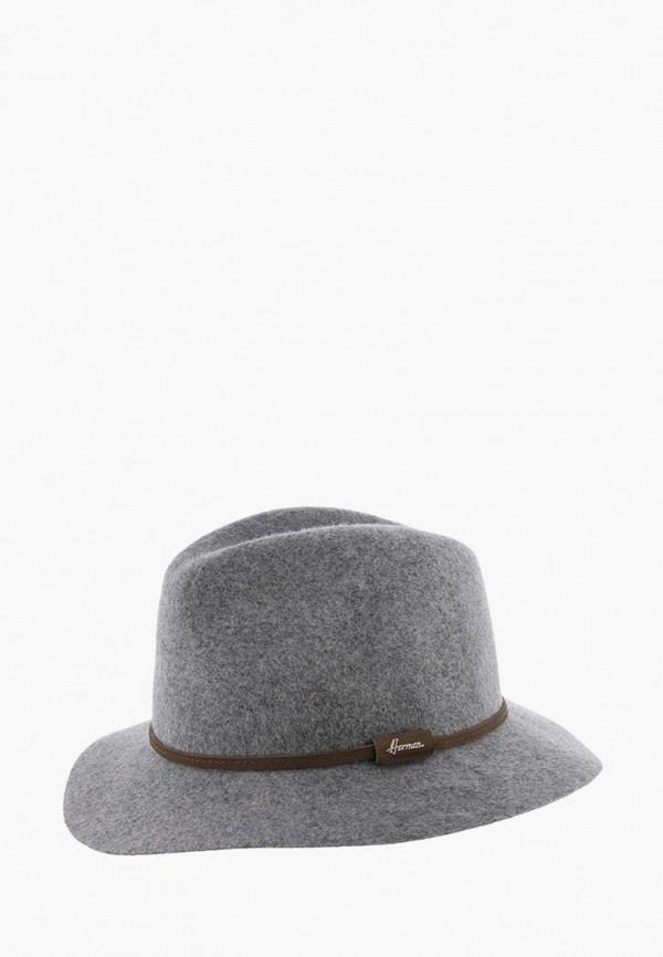 женская шляпа herman, серая