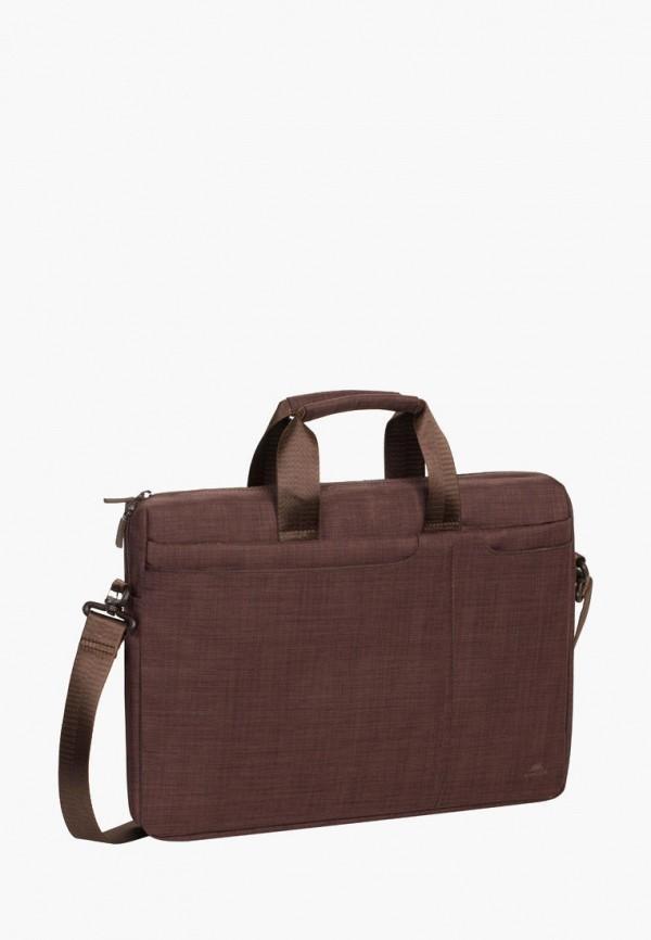 женская сумка rivacase, коричневая
