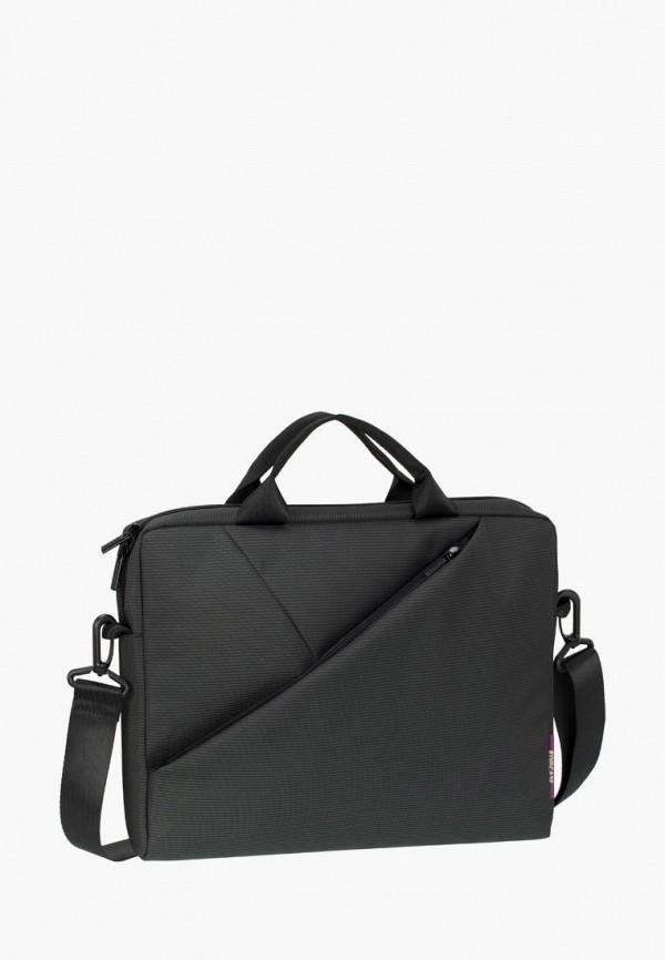 женская сумка rivacase, черная