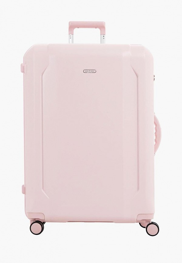 женский чемодан have a rest, розовый