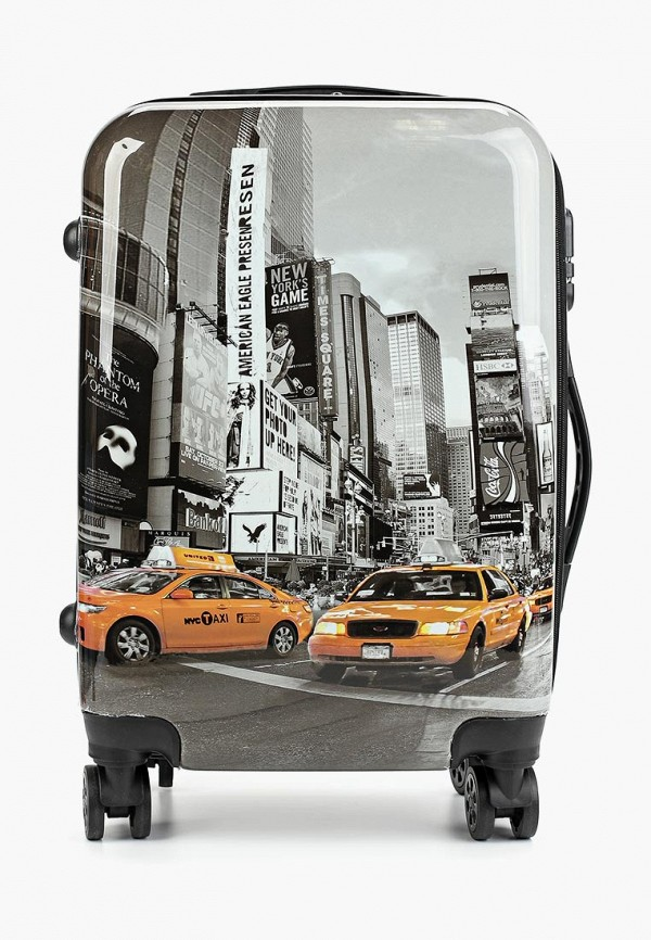 женский чемодан proffi travel, серый