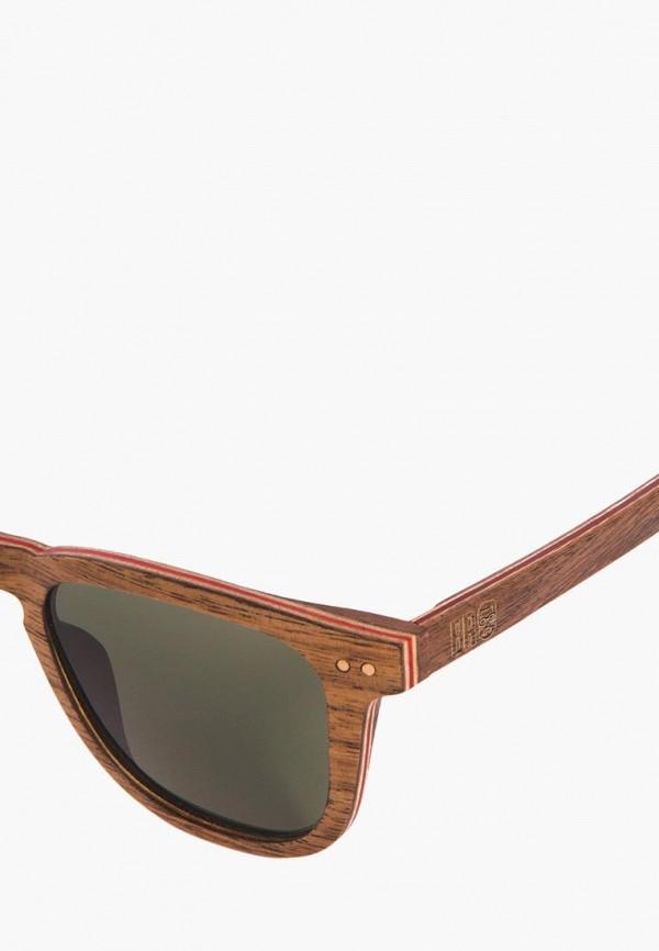 Фото 5 - Очки солнцезащитные BRO коричневого цвета