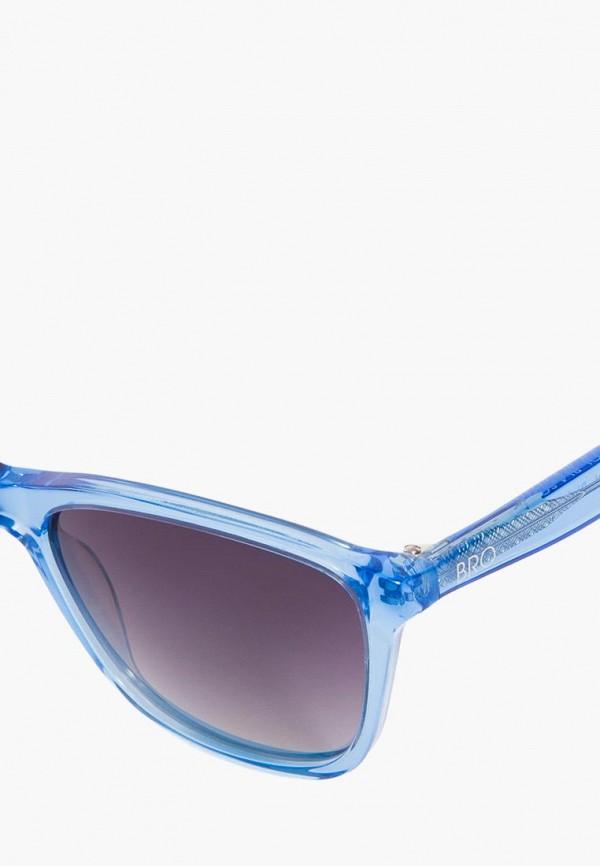 Фото 7 - Очки солнцезащитные BRO голубого цвета