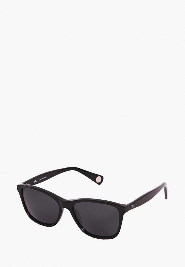 Фото 5 - Очки солнцезащитные BRO черного цвета