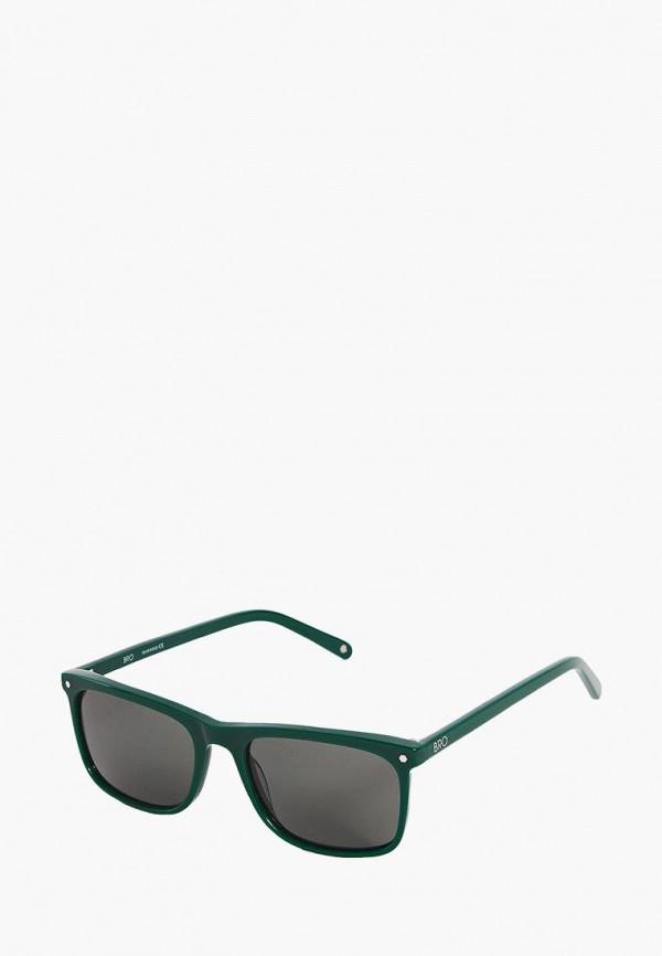 Фото 6 - Очки солнцезащитные BRO зеленого цвета