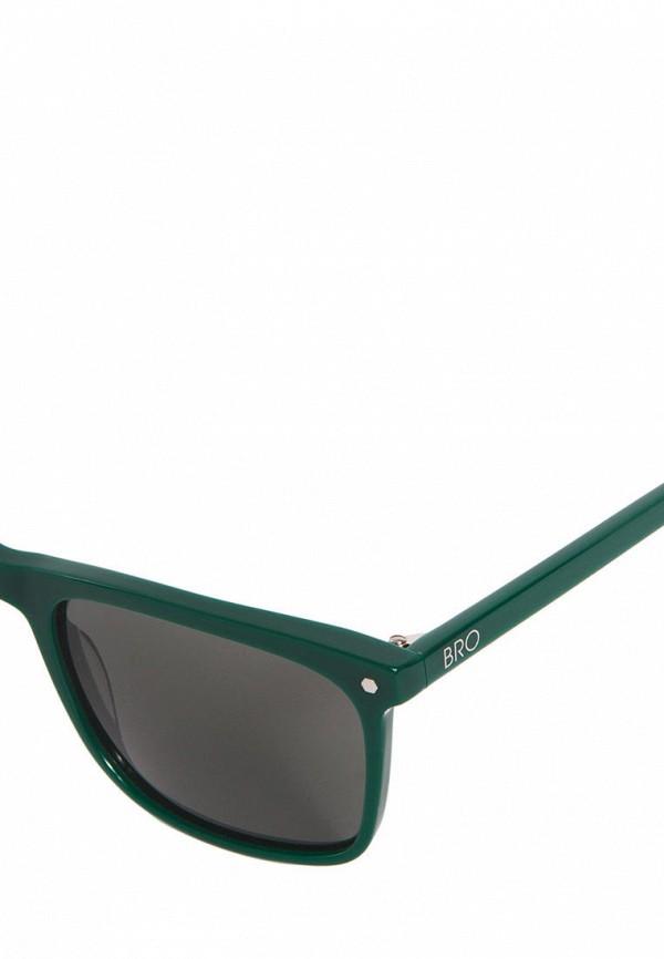 Фото 2 - Очки солнцезащитные BRO зеленого цвета