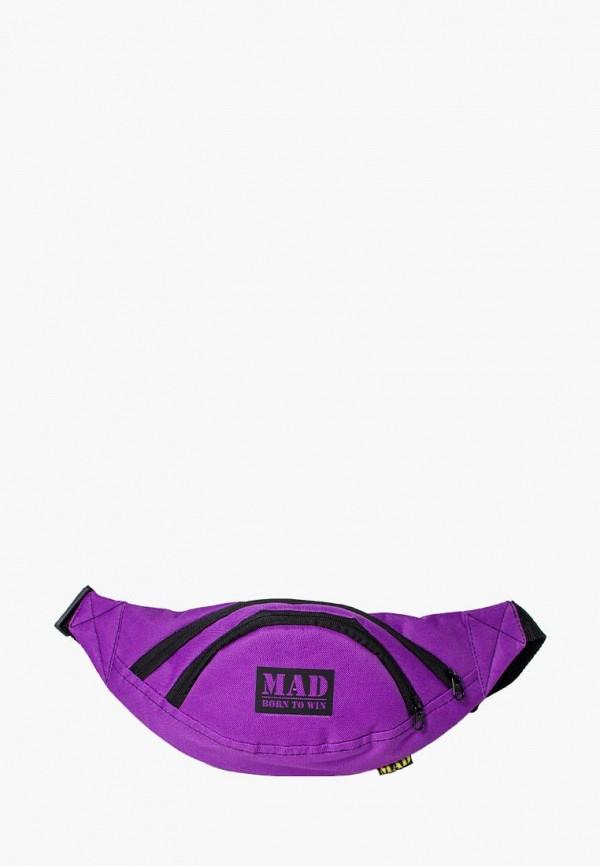 женская сумка mad | born to win, фиолетовая