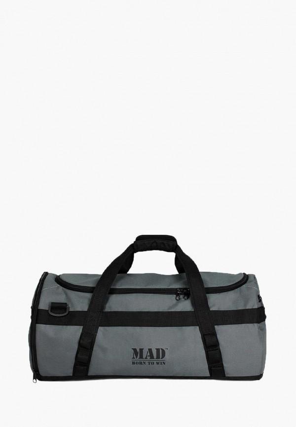 женская сумка mad | born to win, серая