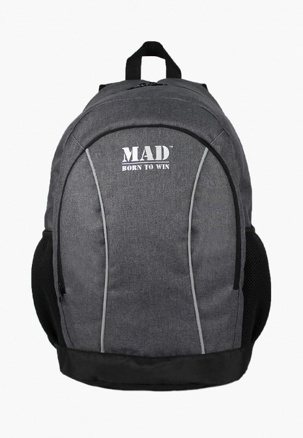 женский рюкзак mad | born to win, серый