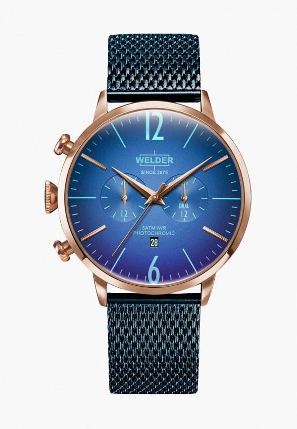 женские часы welder, синие
