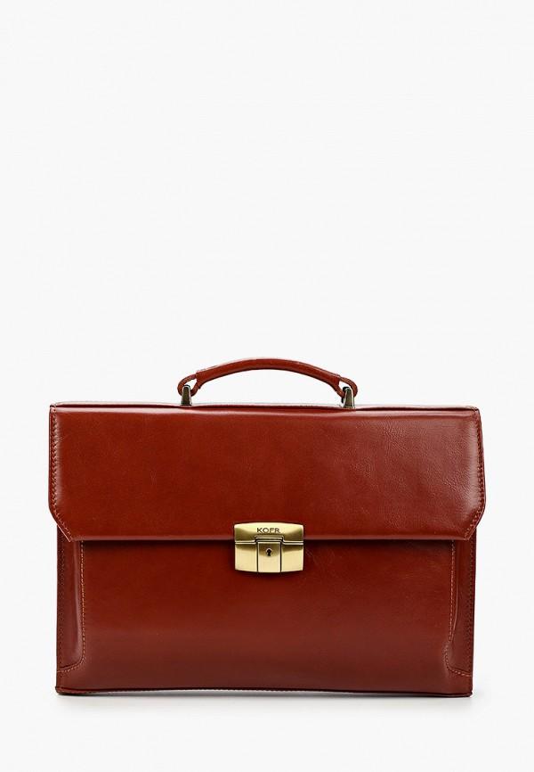 женский портфель kofr, коричневый