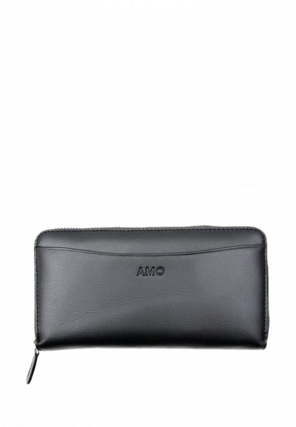 женский кошелёк амоо, черный