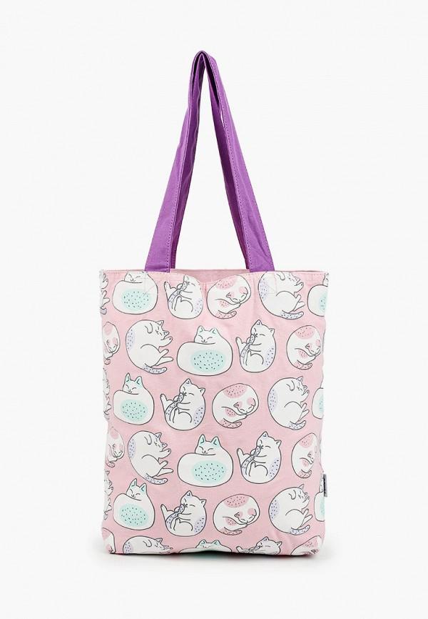 женская сумка-шоперы zakka, розовая
