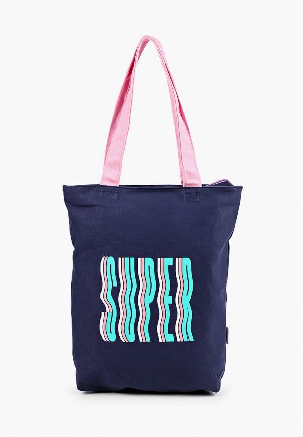 женская сумка с ручками zakka, синяя
