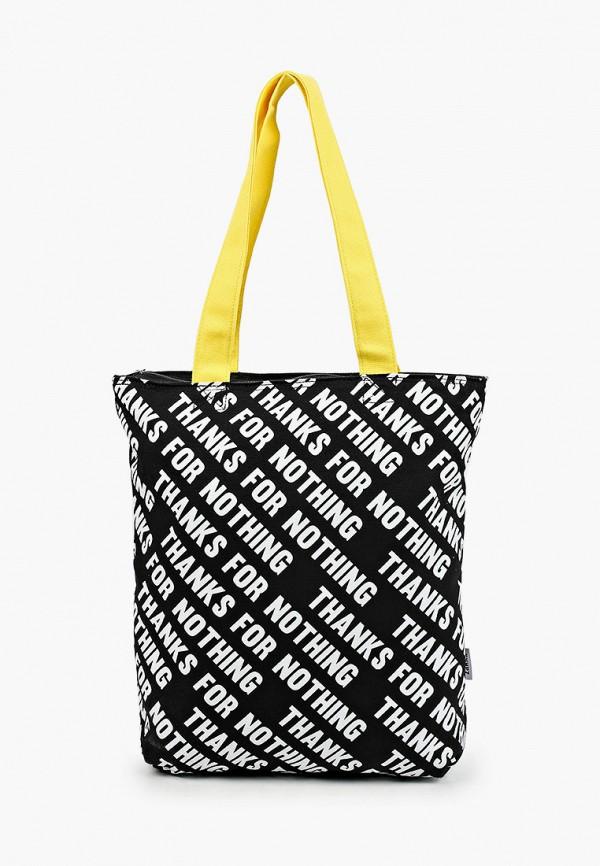 женская сумка с ручками zakka, черная
