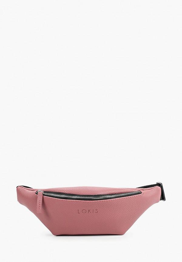 женская поясные сумка lokis, розовая