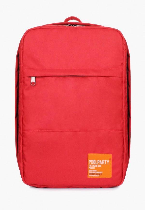 женский рюкзак poolparty, красный