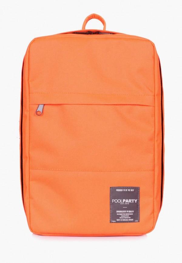 женский рюкзак poolparty, оранжевый