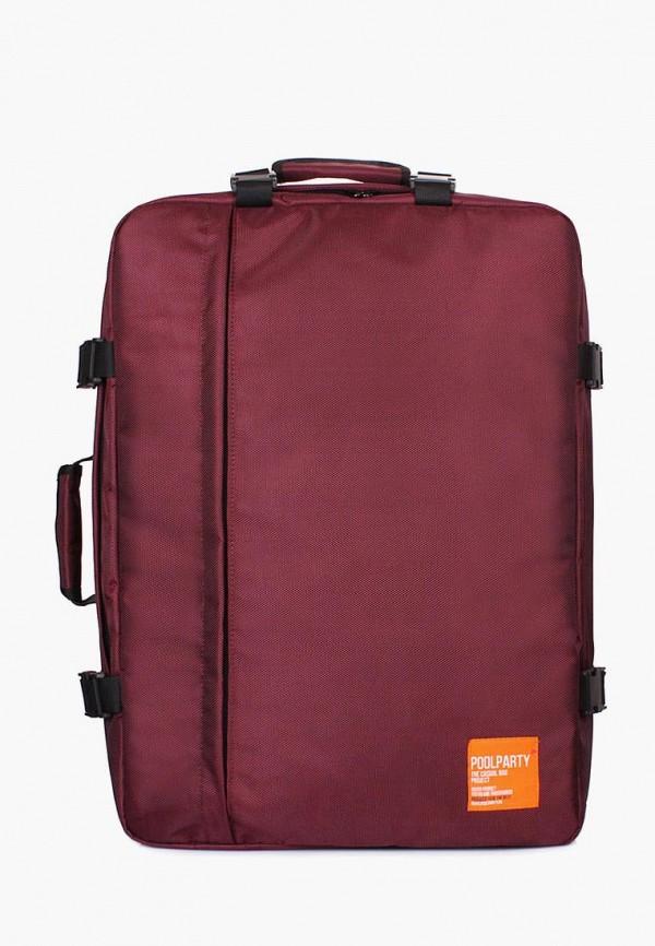 женский рюкзак poolparty, бордовый