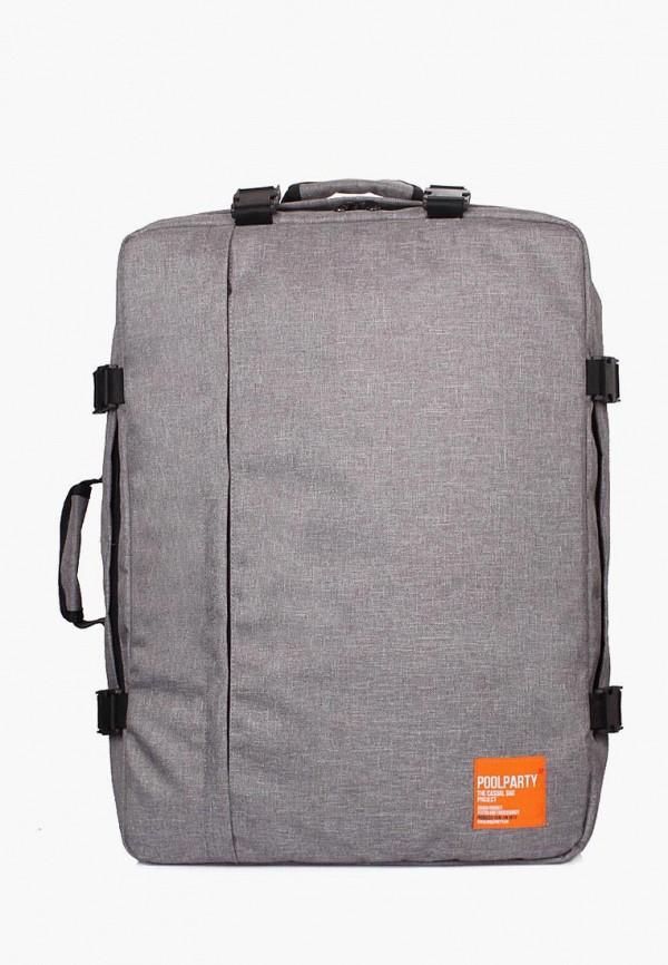 женский рюкзак poolparty, серый