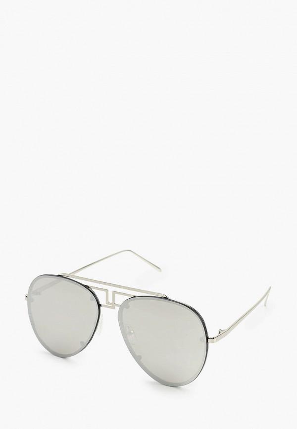женские авиаторы солнцезащитные очки wow miami, серебряные