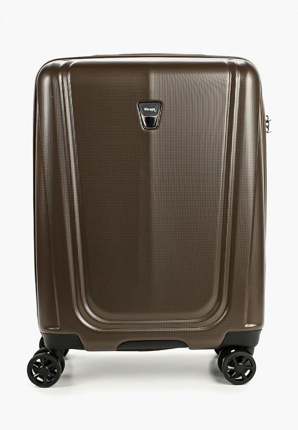 женский чемодан verage, коричневый