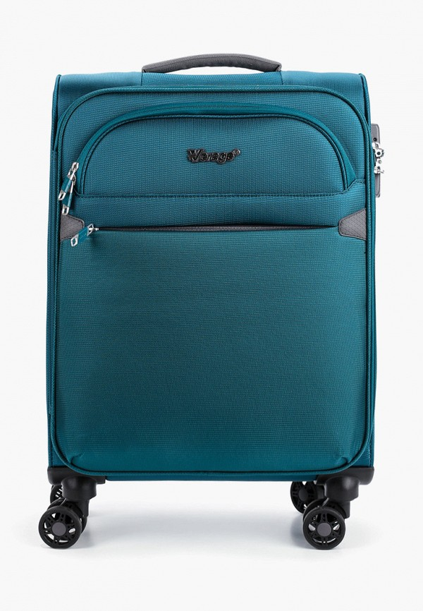 женский чемодан verage, зеленый