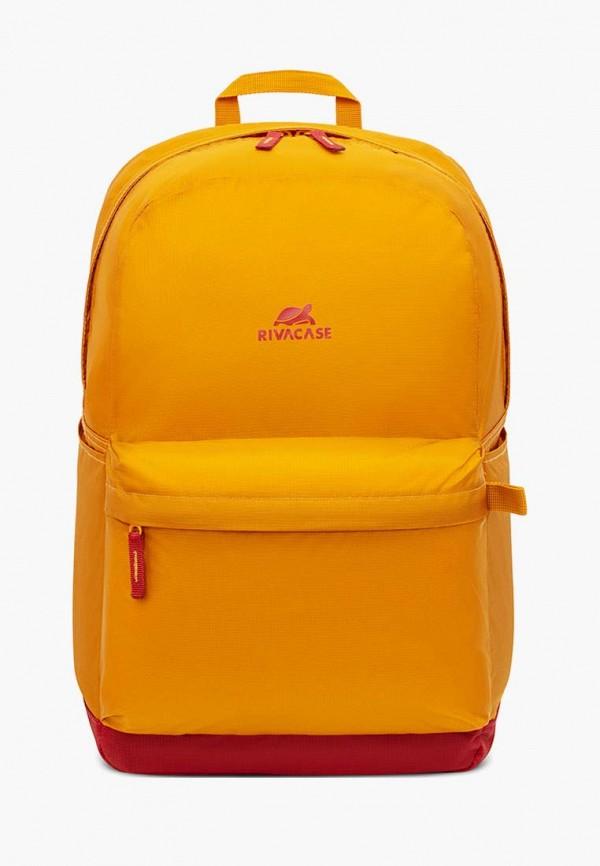 женский рюкзак rivacase, оранжевый