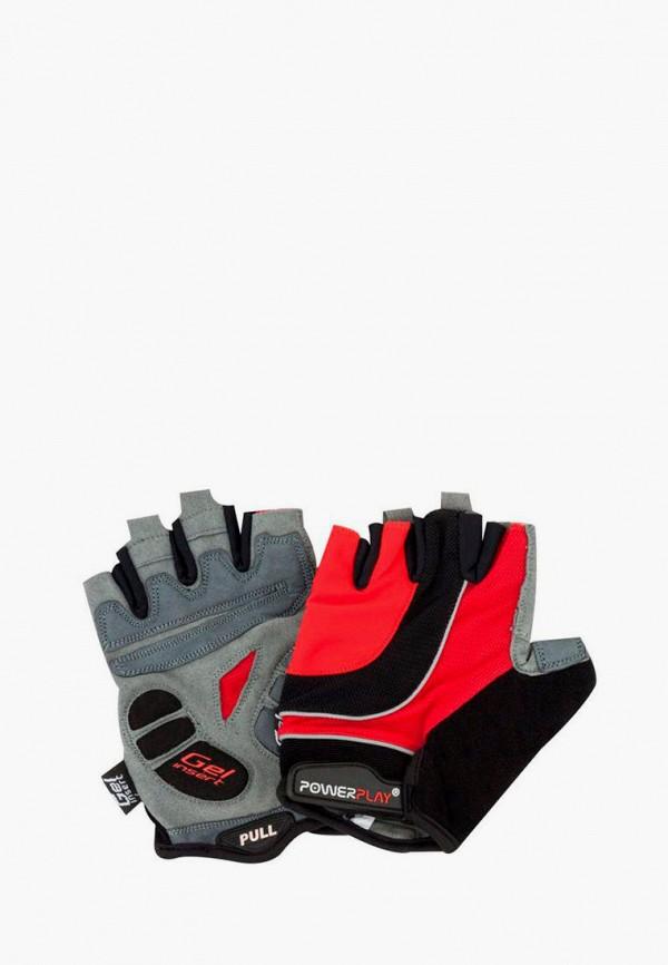 женские перчатки powerplay, красные