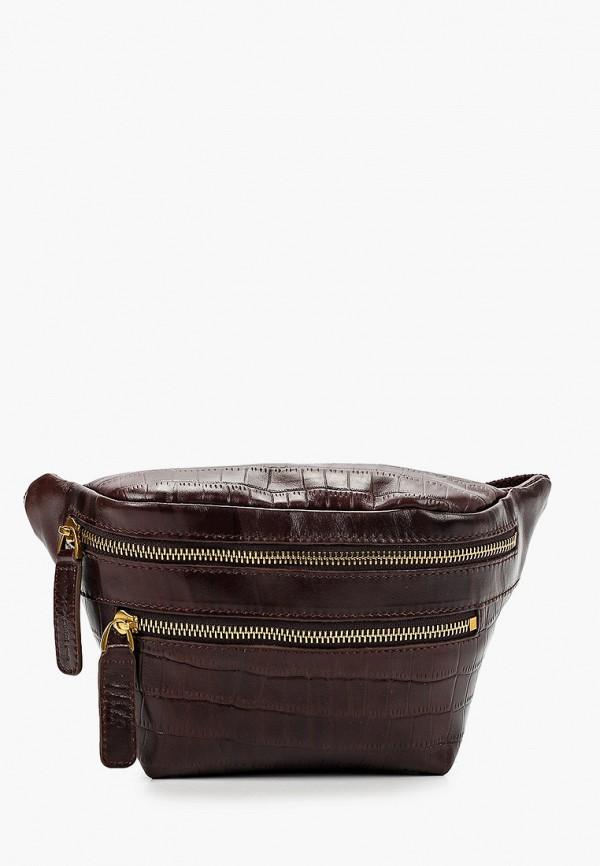 женская сумка через плечо alexander tsiselsky, коричневая