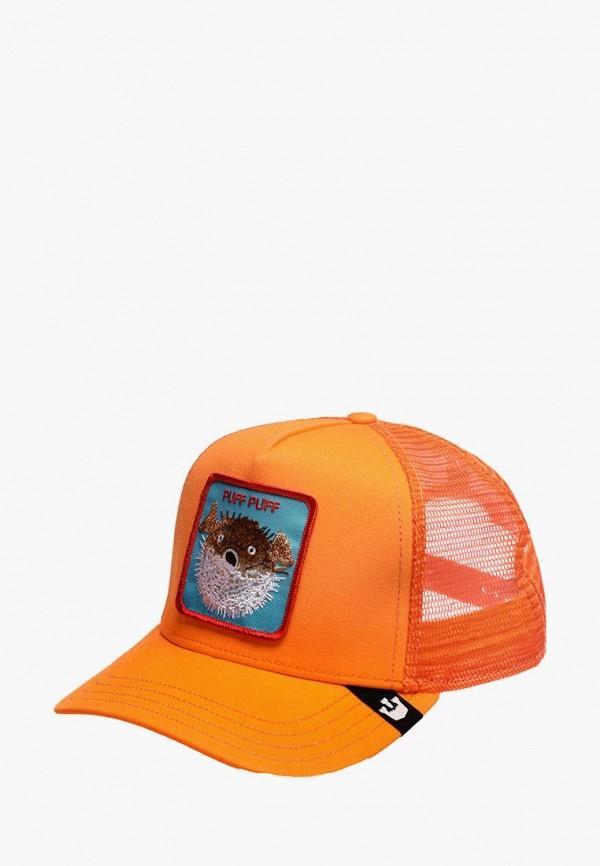женская бейсболка goorin brothers, оранжевая