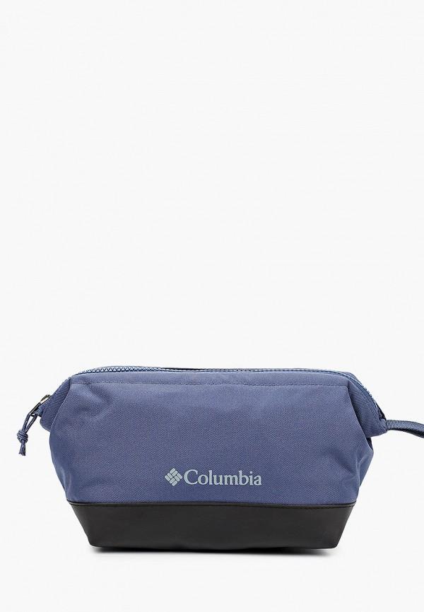 женская косметичка columbia, синяя