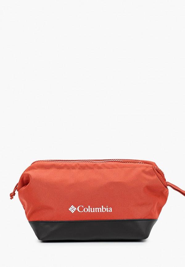 женская косметичка columbia, оранжевая