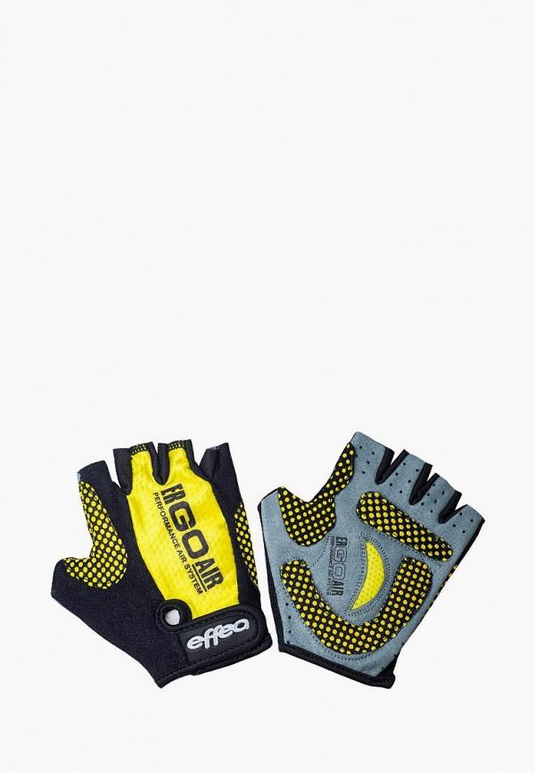 женские перчатки effea, желтые
