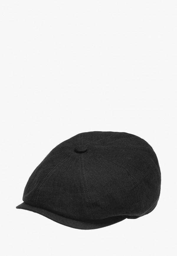 женская кепка stetson, черная