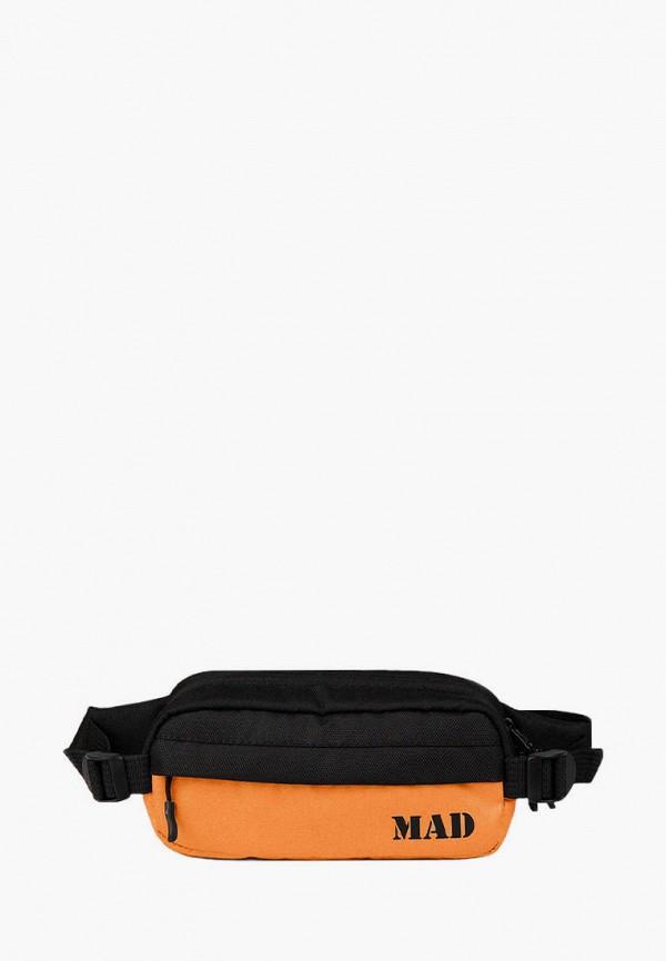 женская сумка mad | born to win, оранжевая
