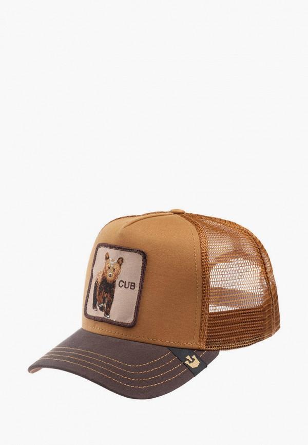 женская бейсболка goorin brothers, коричневая