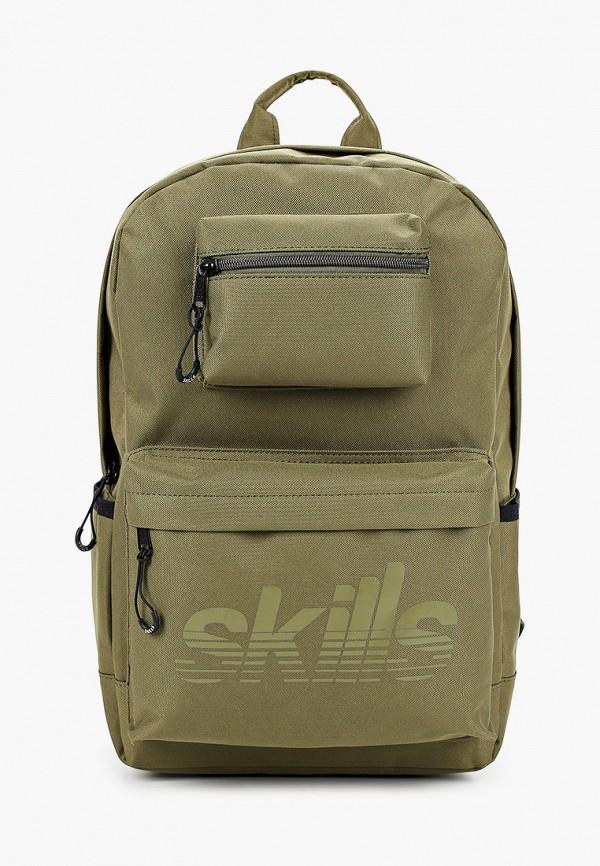 женский рюкзак skills, зеленый