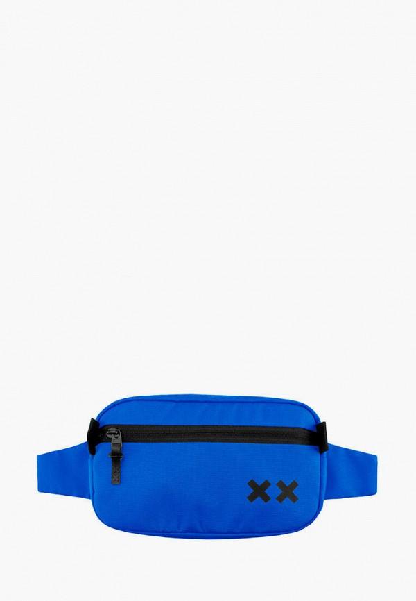 женская сумка double x, синяя