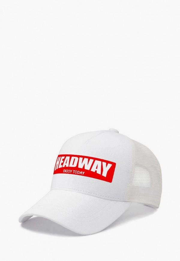 женская бейсболка headway, белая