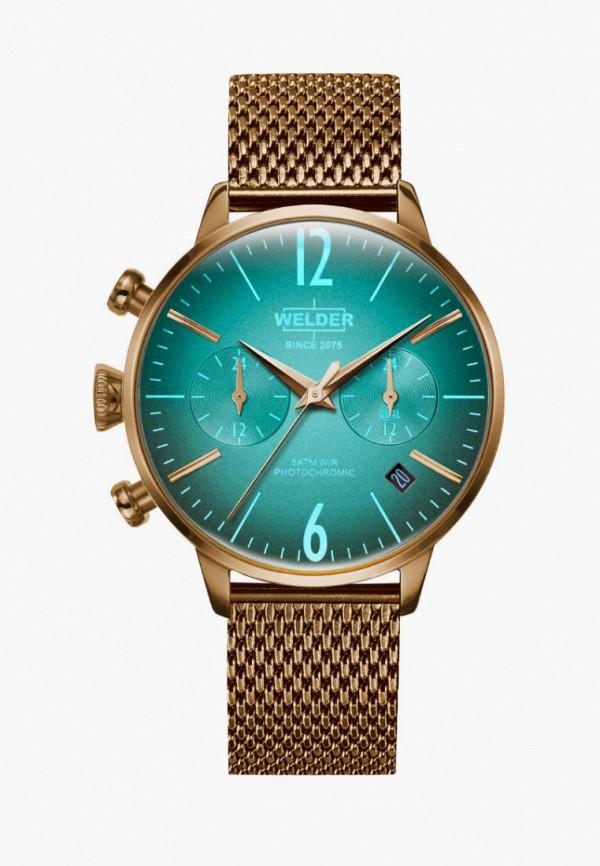 женские часы welder, золотые