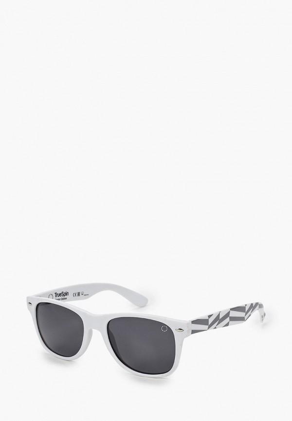 женские квадратные солнцезащитные очки true spin, белые