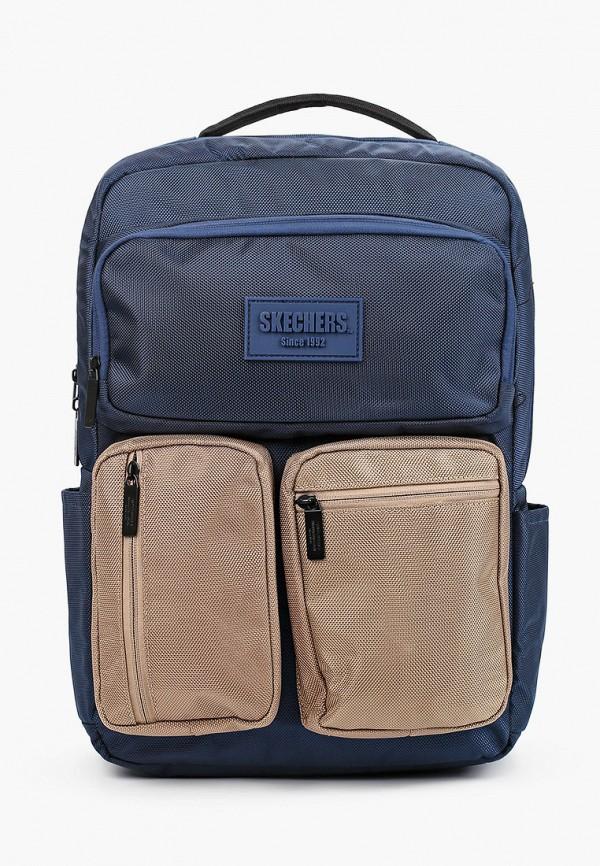 женский рюкзак skechers, синий