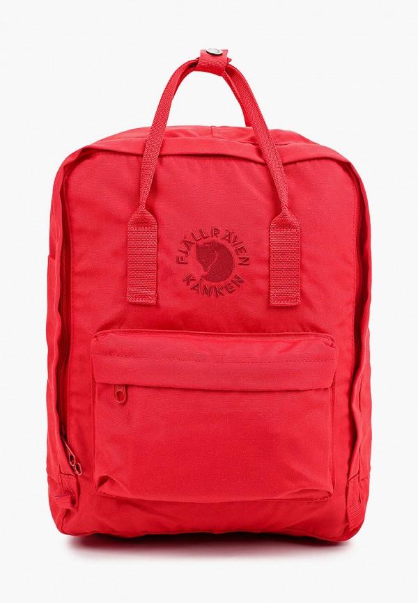 женский рюкзак fjällräven kånken, красный