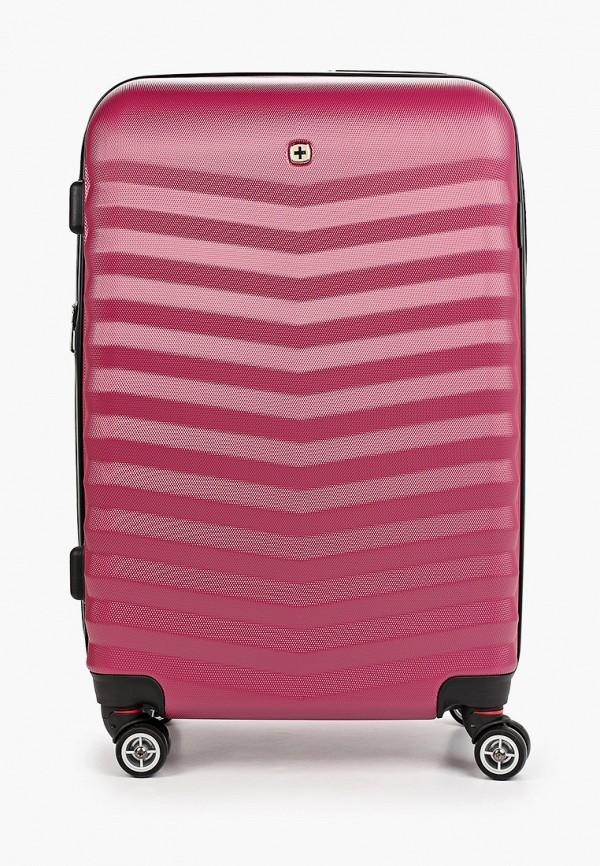 женский чемодан wenger, розовый