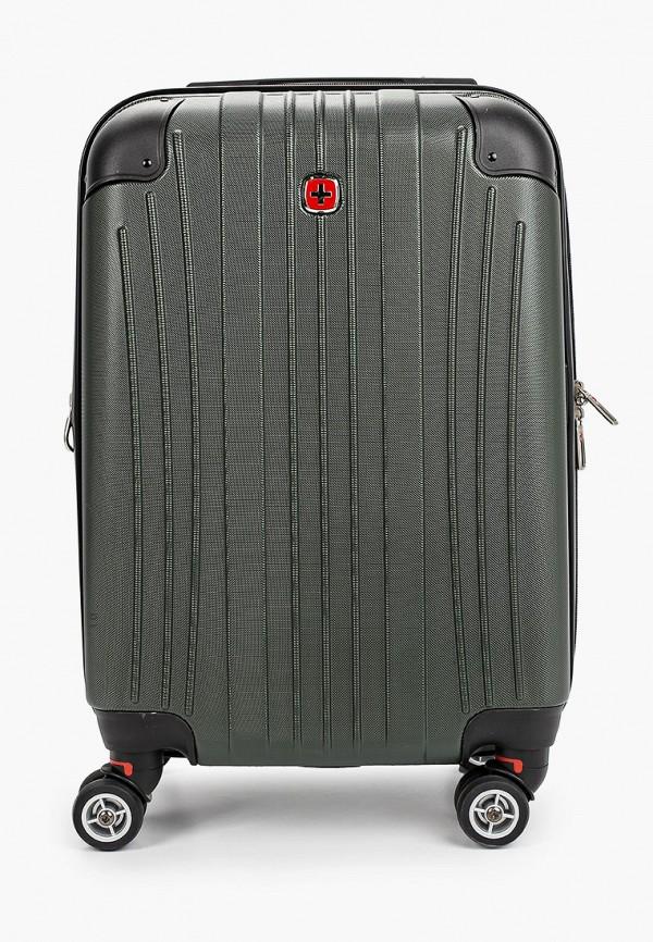 женский чемодан wenger, зеленый